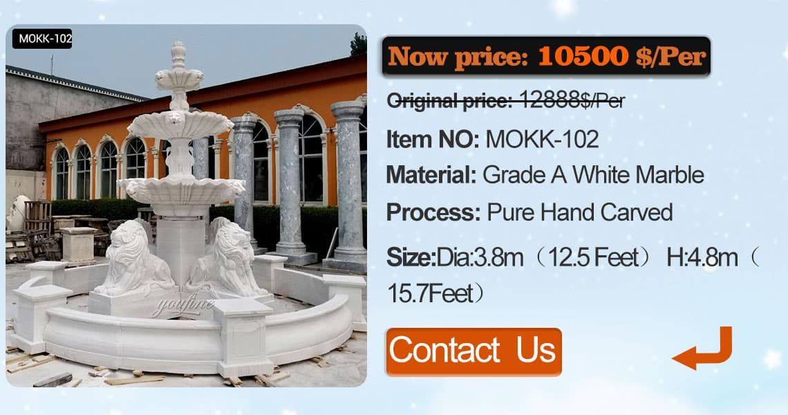 tier stone water fountain school with statues supplier