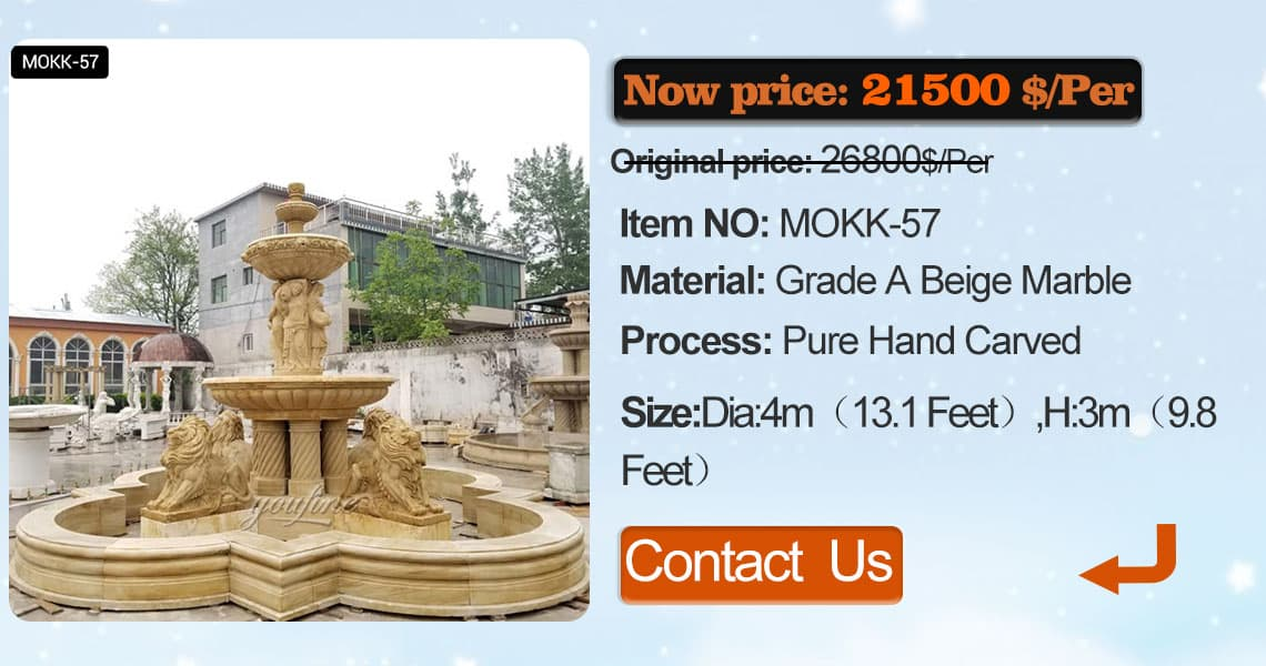 tiered stone water fountain garden with animals supplier