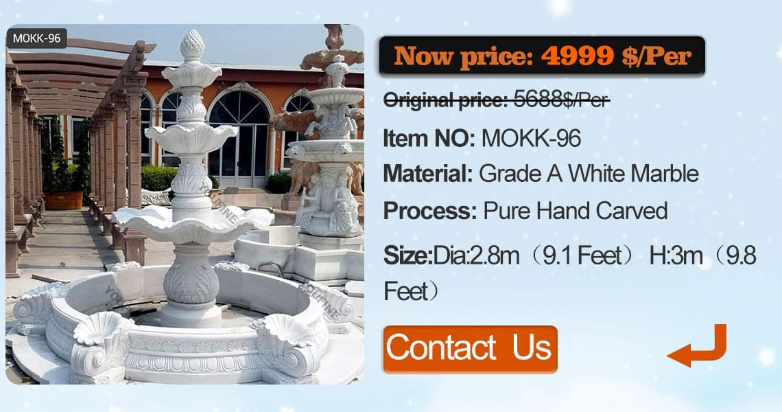 Extra Large tiered yard fountain supplier outside house
