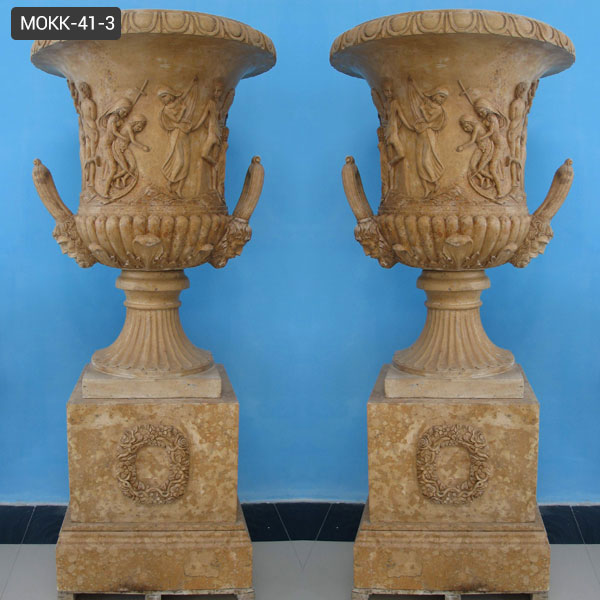 front porch yellow pedestal urn price