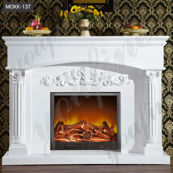 outdoor decor stove limestone fireplace mantel for sale ...