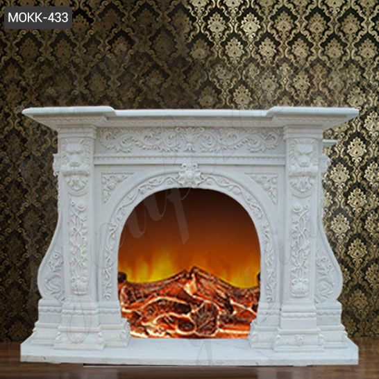Fireplace Facade - Marble Tile - The Home Depot