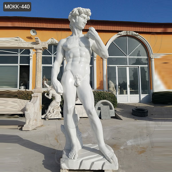 Life Size World Famous Marble Michelangelo's David Statue Replica Outdoor Garden Statues for Sale MOKK-440