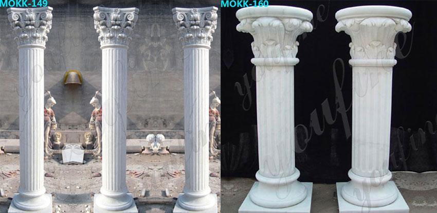 White-marble-greek-column-corinthian-order-round-fluted-wedding-columns-MOKK-149