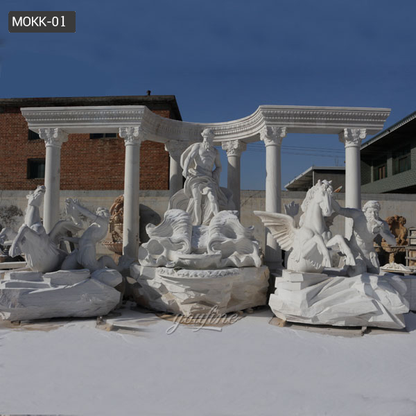 Large Famous Trevi Marble Fountain Replica Design for Sale MOKK-01