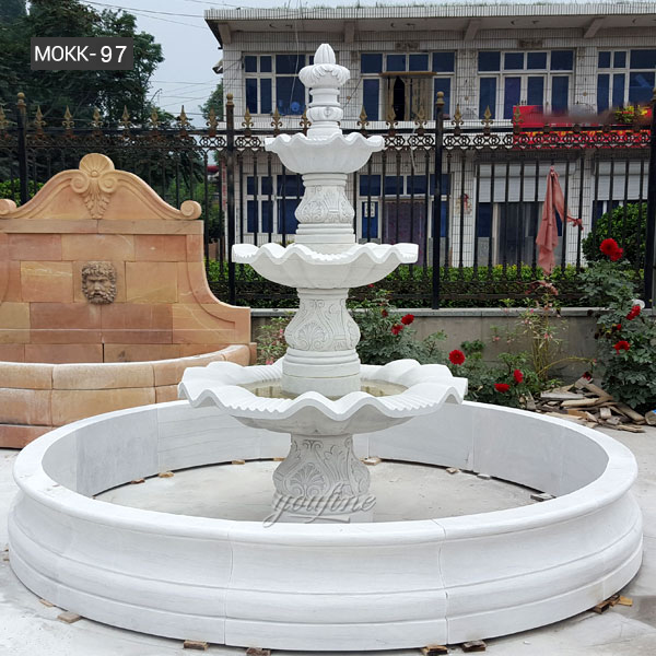 Hot Selling Three Tierd Marble Fountain Easy Tiered Patio Water Fountain for Front Door Decor for Sale–MOKK-97