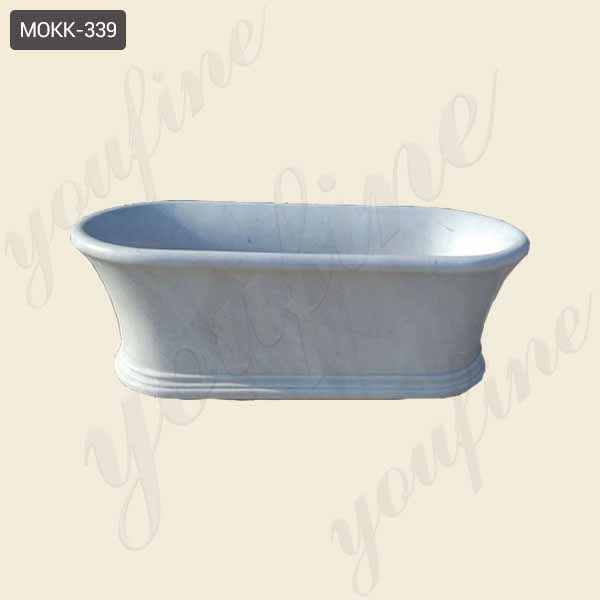 White Marble Interior Decoration Bathroom Essential Artifact Natural Marble Tub Hot Sale-MOKK-339
