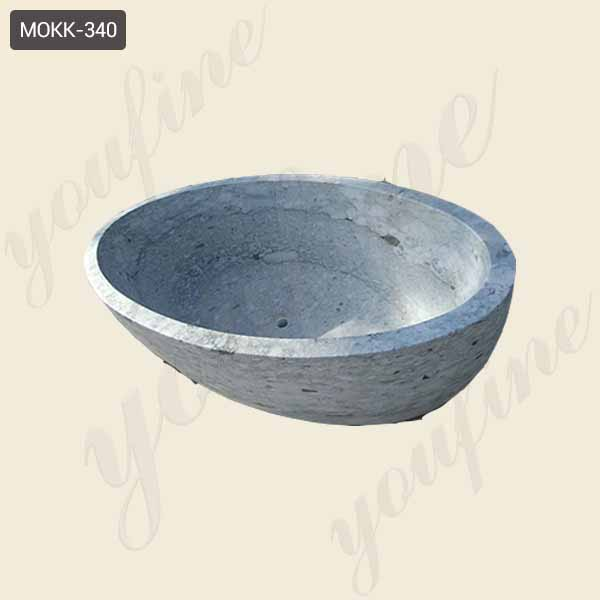 White Marble  Decoration Bathroom Essential Artifact Natural Marble Tub Hot Sale for Washroom-MOKK-340