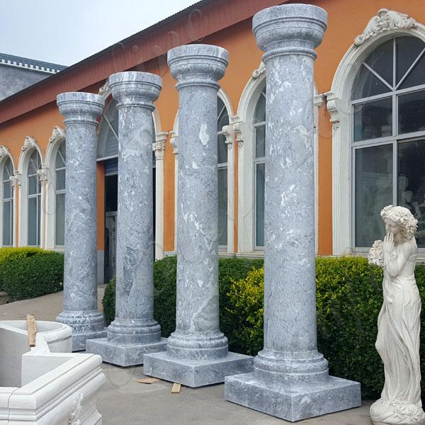 Doric Order Column Large Antique Round Marble Column for Sale MOKK-152