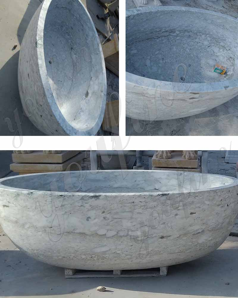 Marble Furniture Supplies Hot Sale Bathroom Marble White Bathtub Natural Marble Material for Sale-MOKK-101