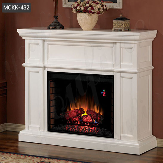 Modern Marble Fireplace Mantel Surround Designs for Indoor Decor for Sale MOKK-432