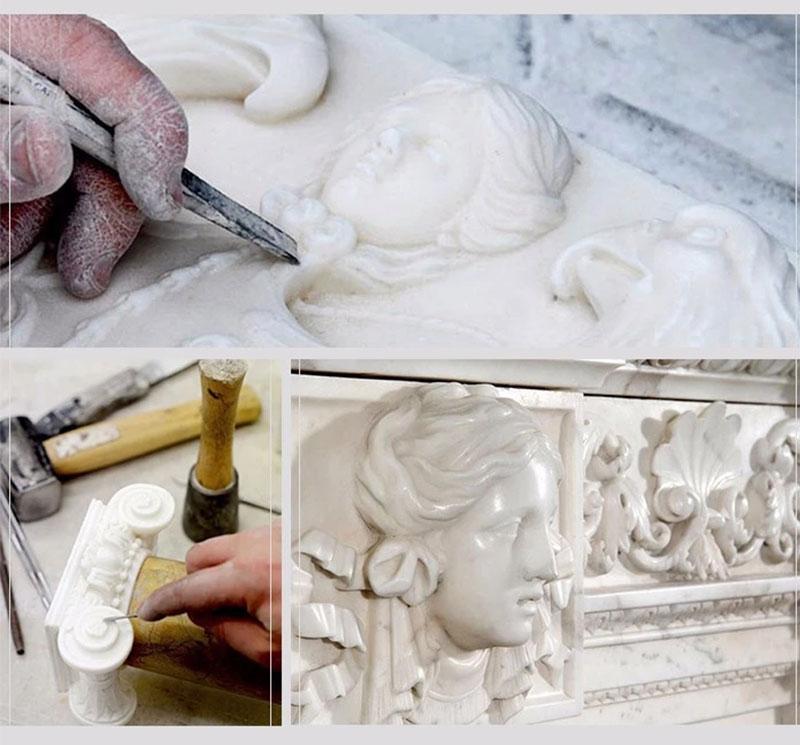marble column carving