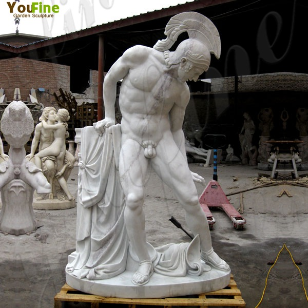 Exquisite White Marble Life Size Ares God of War Statue for Sale MOKK-81