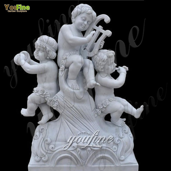 Garden Best White Marble Little Angel Statues Cherubs Statue for sale MOKK-202