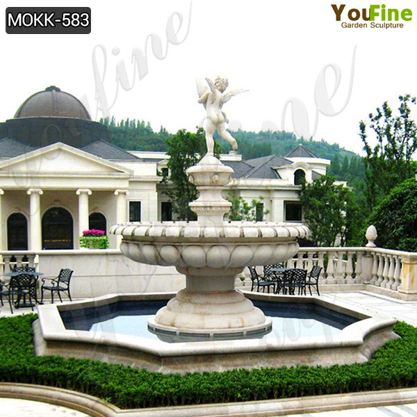 Garden Decoration High Quality Marble Angle Water Fountain Manufacturer MOKK-583
