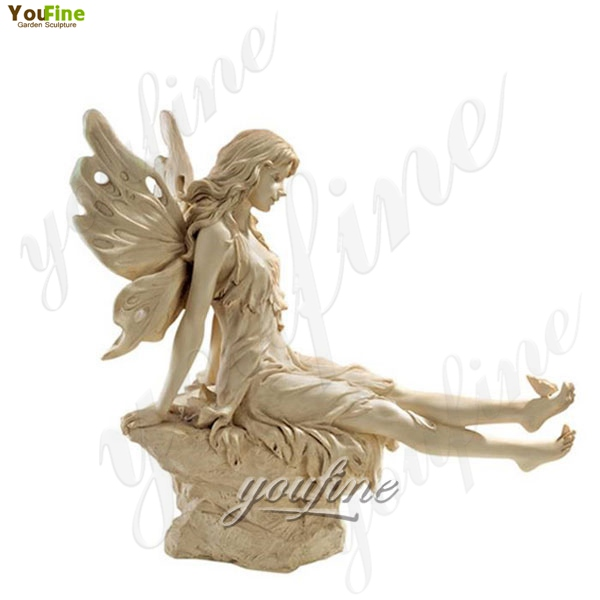 Life Size Marble Sculptures of Twinkle Toes Fairy Statue Garden Decoration for Sale MOKK-210