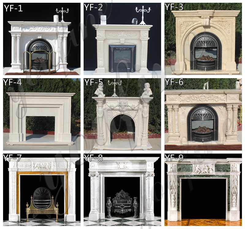 Exquisite Customized Hand carved French Design Marble Fireplace Supplier MOKK-484