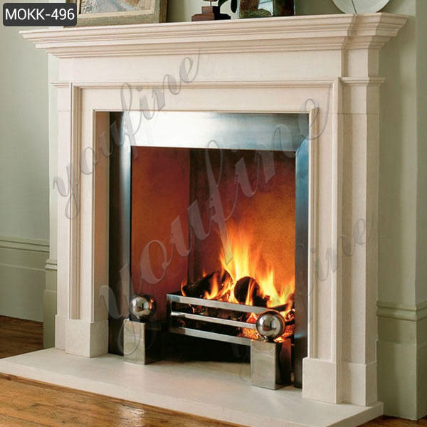 Home Indoor Decoration Simple Design Marble Fireplace Factory MOKK-496