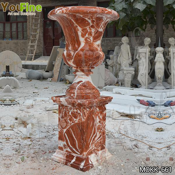 Large Size Garden Marble Flower Pots Outdoor Decoration planter for Sale MOKK-661