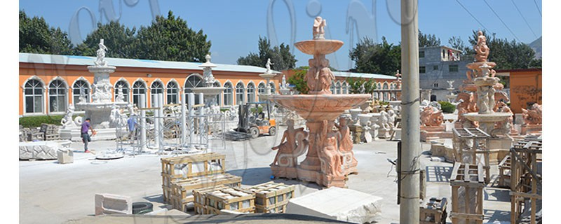 Exquisite Marble Woman Water Fountain for Garden Decoration Sale