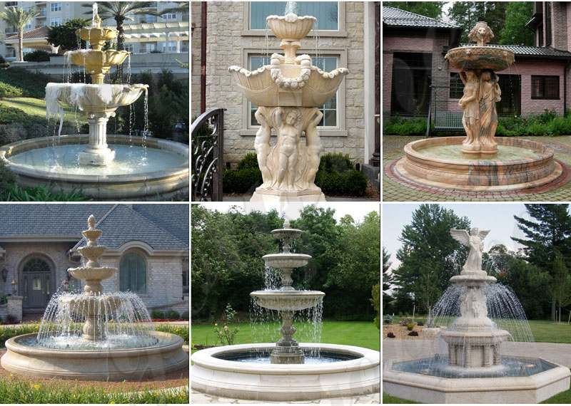Exquisite Marble Woman Water Fountain for Garden