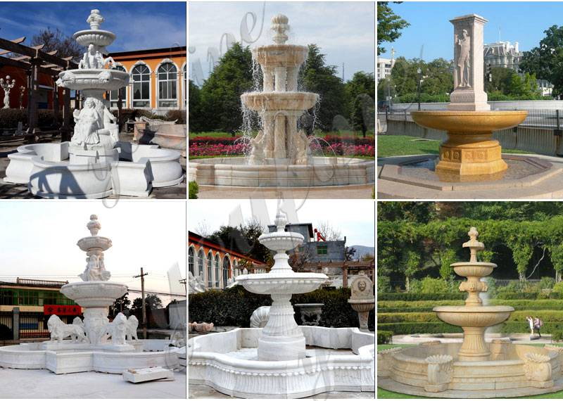 Exquisite Marble Woman Water Fountain for