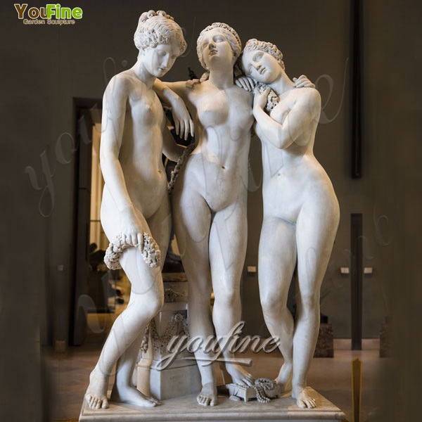 Life Size Classical Marble Sculptures Three Graces by Pradier MOKK-212