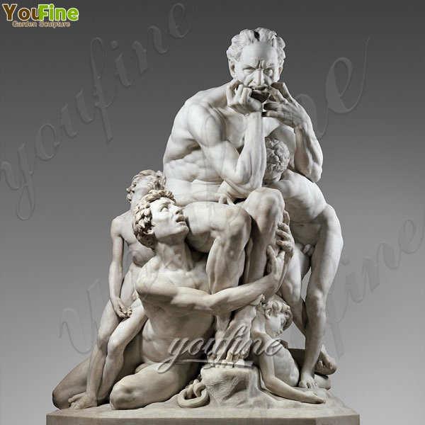 Life Size Famous White Marble Statue Ugolino and His Sons for Sale MOKK-209