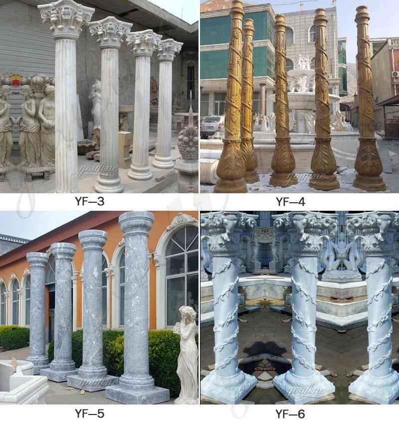 Granite Marble Column for Home Decor for Sale MOKK-576