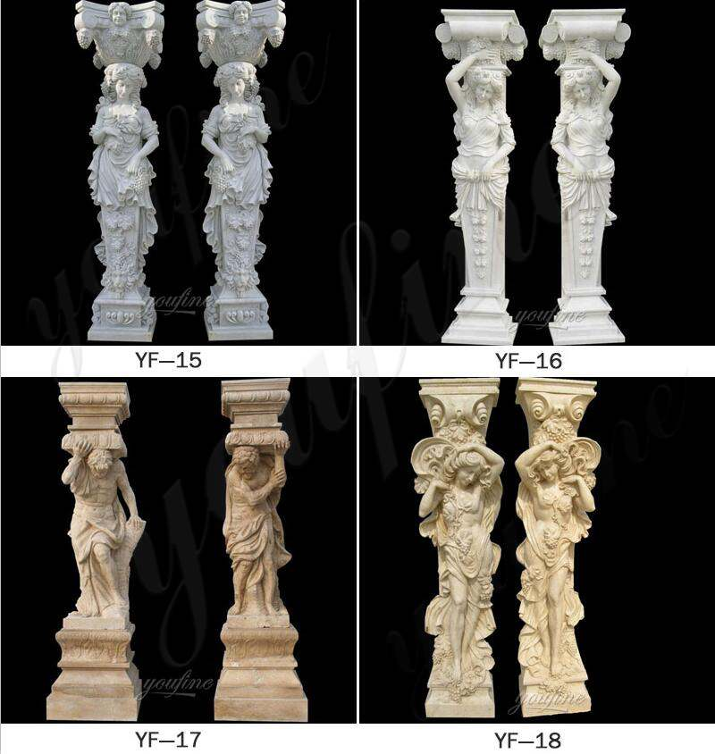 High Quality Granite Marble Column for Home Decor for Sale
