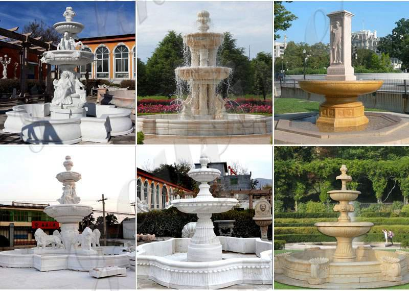 Customized Polished Granite Tiered Fountain