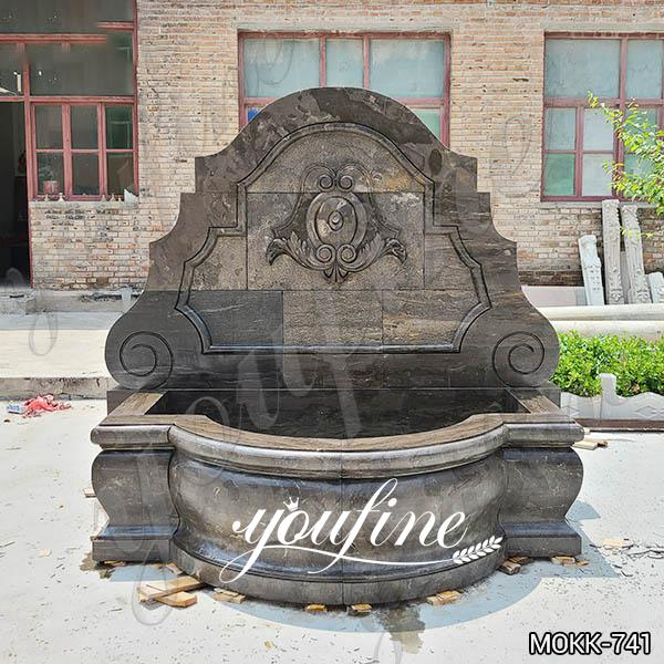 Home Yellow Travertine Medusa Head Wall-Mounted Fountain for Sale MOKK-741